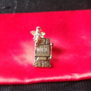 Lucky Angel and Slot Machine Pin or Charm